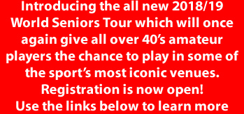 Jason Frances, in partnership with Stephen Hendry, is proud to announce the launch of the first ever World Seniors Tour which will once again give all over 40's amateur players the chance to play in some of the sport's most iconic venues.